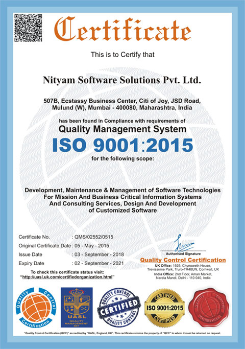 Nityam Software Solutions Private Limited Custom Web